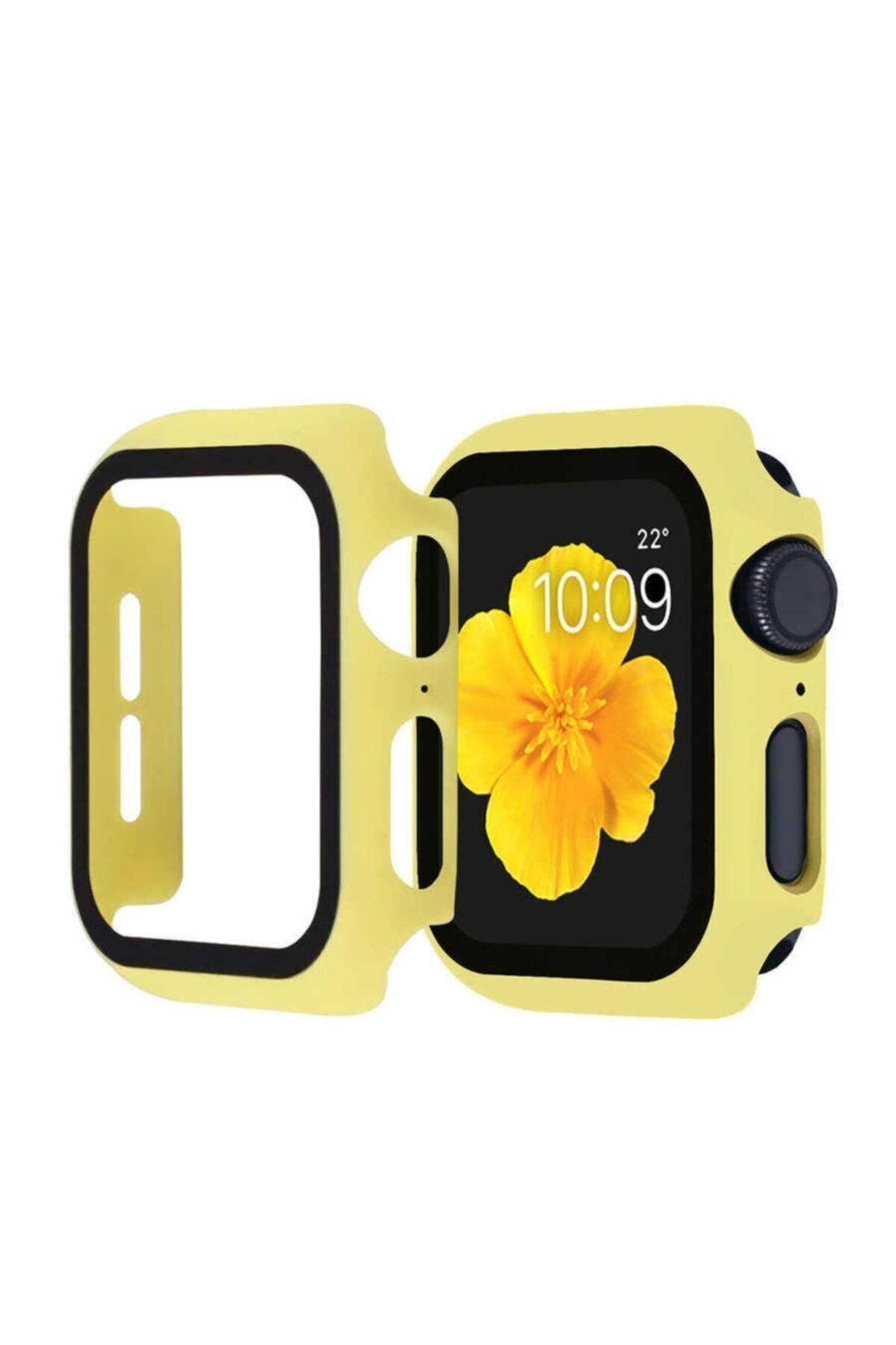 KVK PRİVACY Apple Watch Sarı Silikon Uyumlu Kılıf 42mm 1