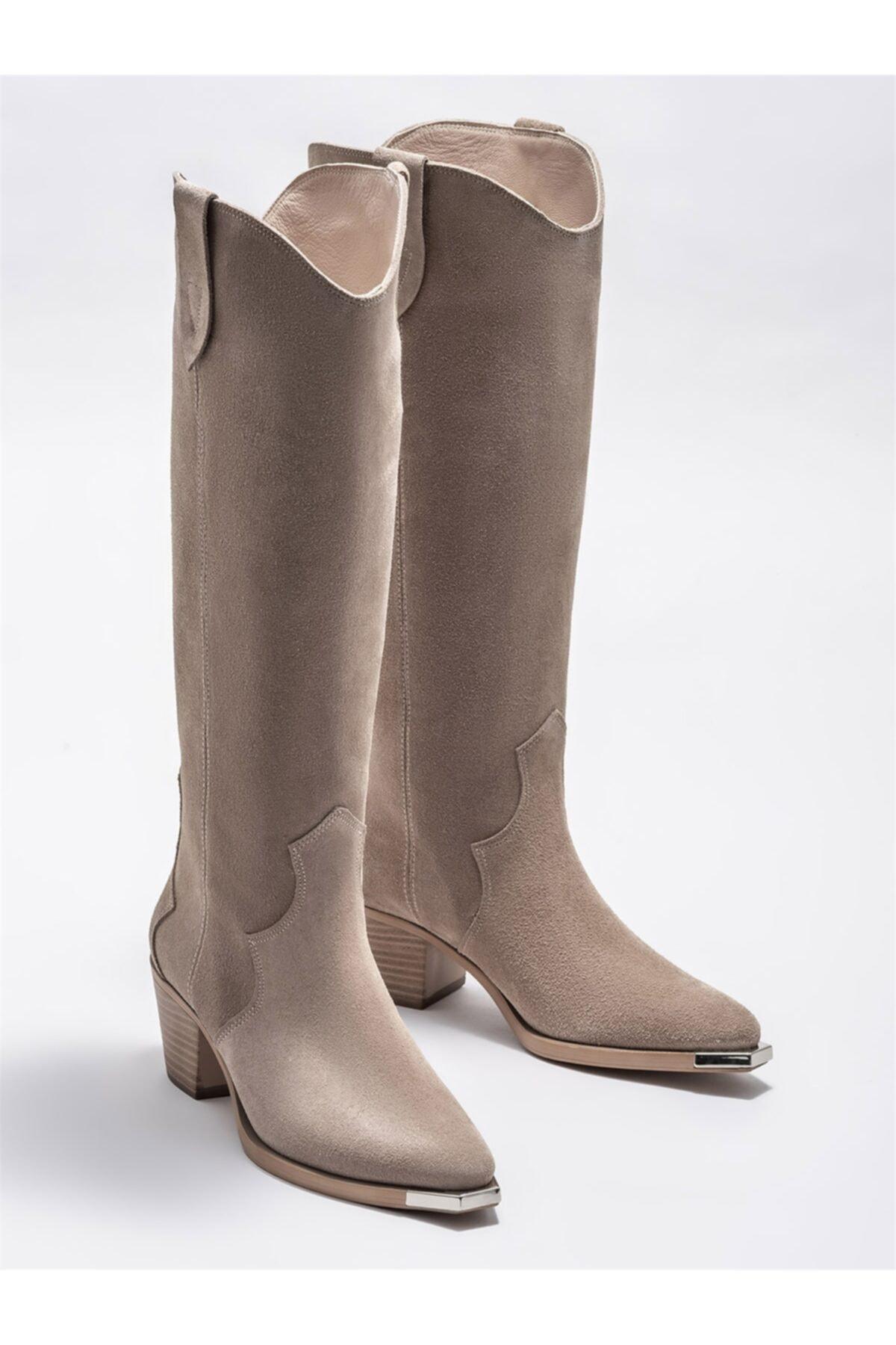 Elle Shoes Kadın Bej Günlük Çizme 2