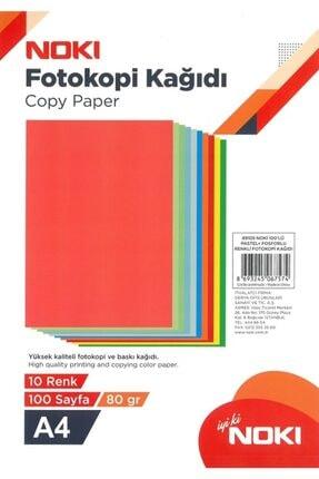 Noki A4 Pastel/fosforlu Renkli Fotokopi Kağıdı 10 Renk 100 Lü