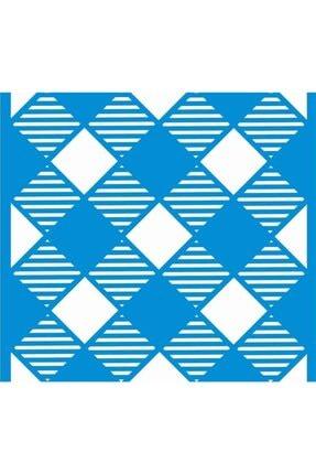 STENCİL SEPETİ Diagonal Ekose Stencıl Şablon 20*20 Cm 7353