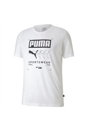 Puma BOX PUMA TEE Beyaz Erkek T-Shirt 101085563