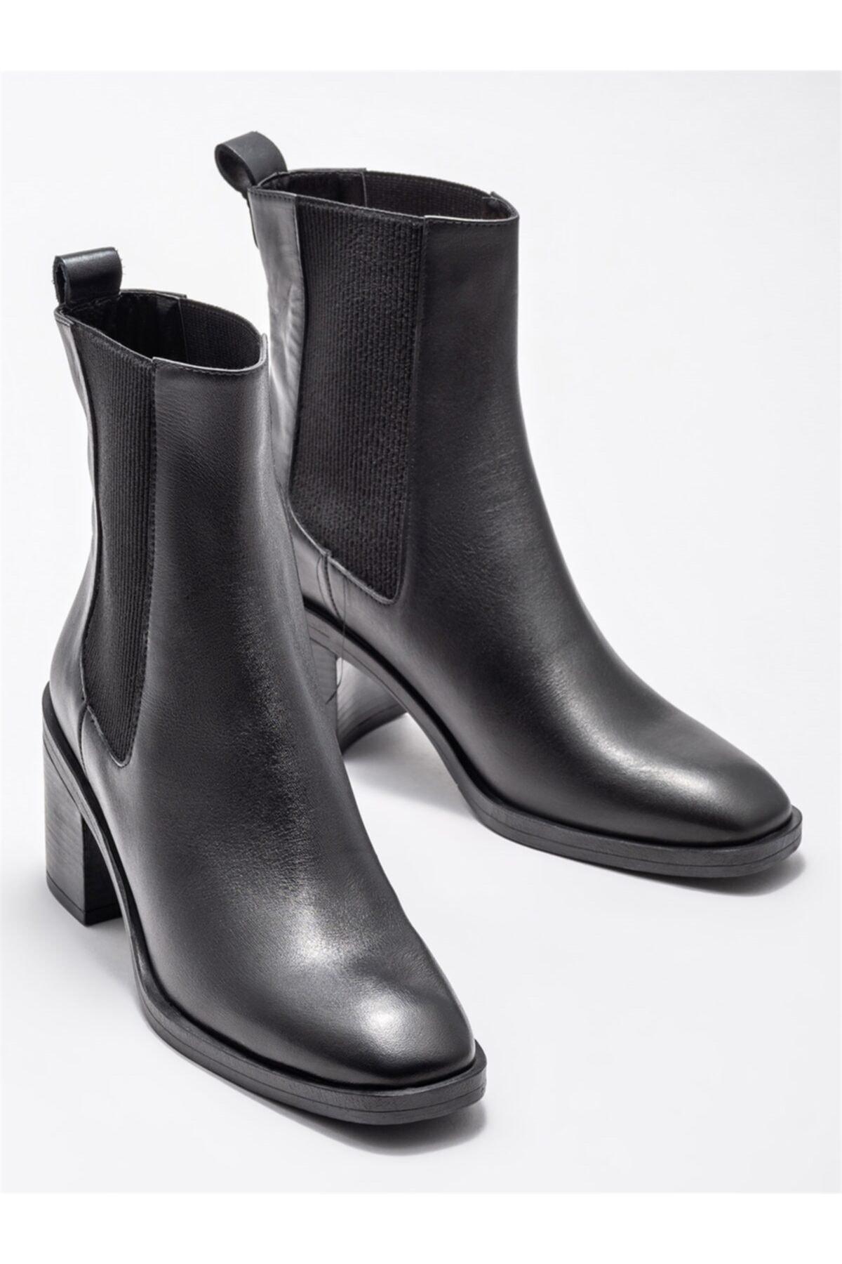 Elle Shoes Siyah Kadın Günlük Topuklu Bot 2