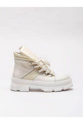 Elle Shoes Bej Kadın Günlük Düz Bot