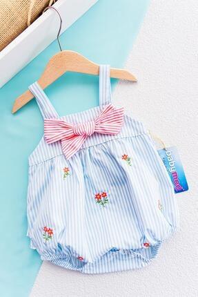 Babymod Çiçek Işlemeli Askılı Kız Bebek Tulum
