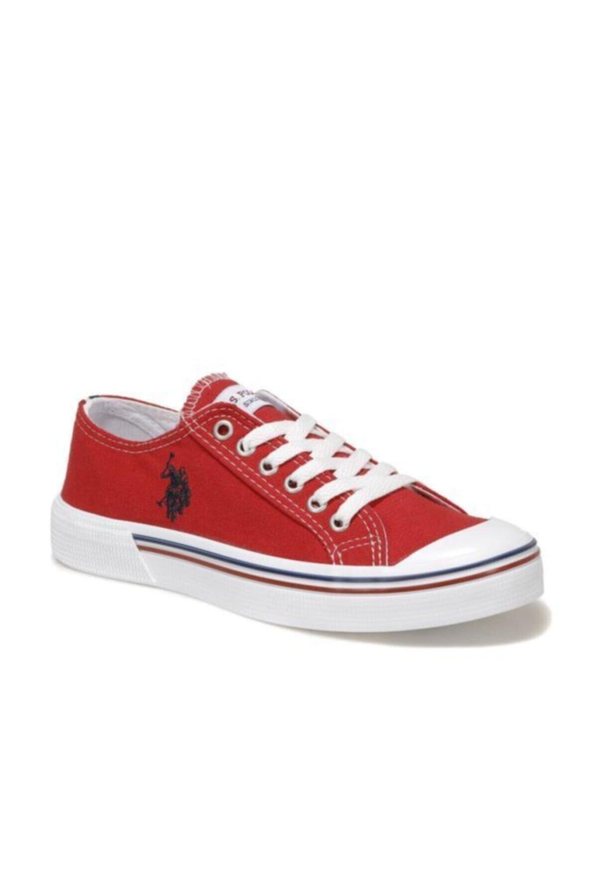 U.S. Polo Assn. Kadın Kırmızı Keten Ayakkabı 1