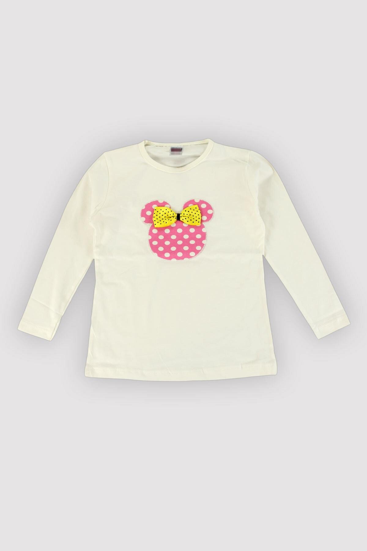 Peki 4 Mevsim Kız Çocuk Likralı Karışık Renk-nakış Puanlı Taytlı Takım 12343 2