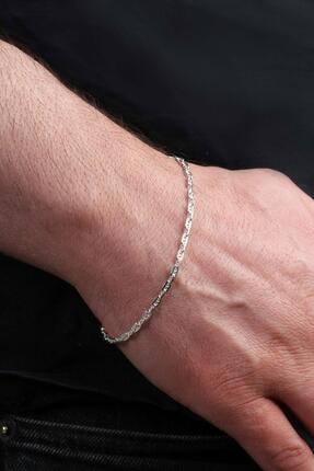 İn Dubai Silver 925 Ayar Italyan Aynalı Figaro Bileklik Dbse4008