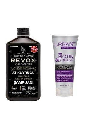 Revox At Kuyruğu Şampuanı 750ml +urban Care Biotin Ve Kafein Bakım Kremi 200 Ml + Duş Jeli Hediye