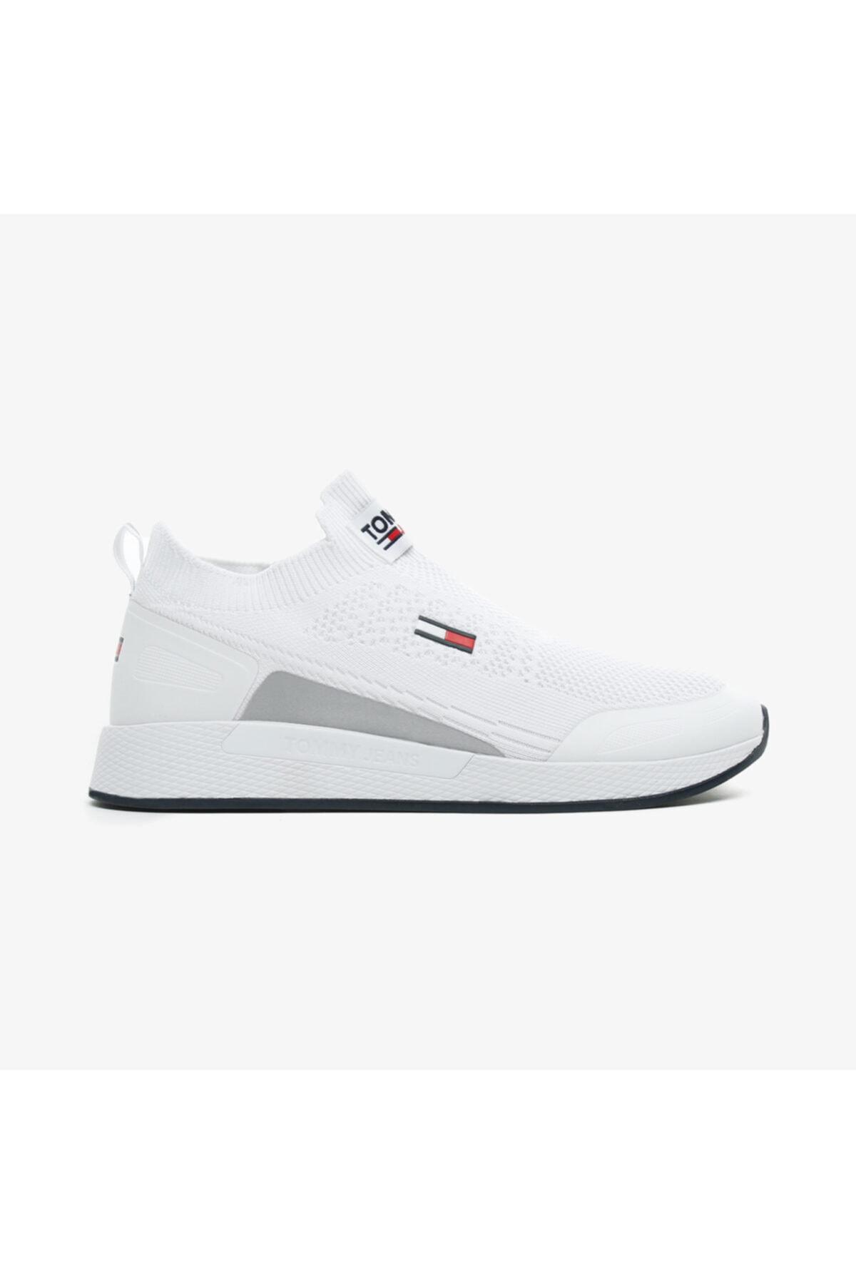 Tommy Hilfiger Erkek Beyaz Sneaker 1