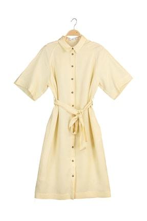 MANGO Woman Kadın Vanilya Rengi Elbise 41029068