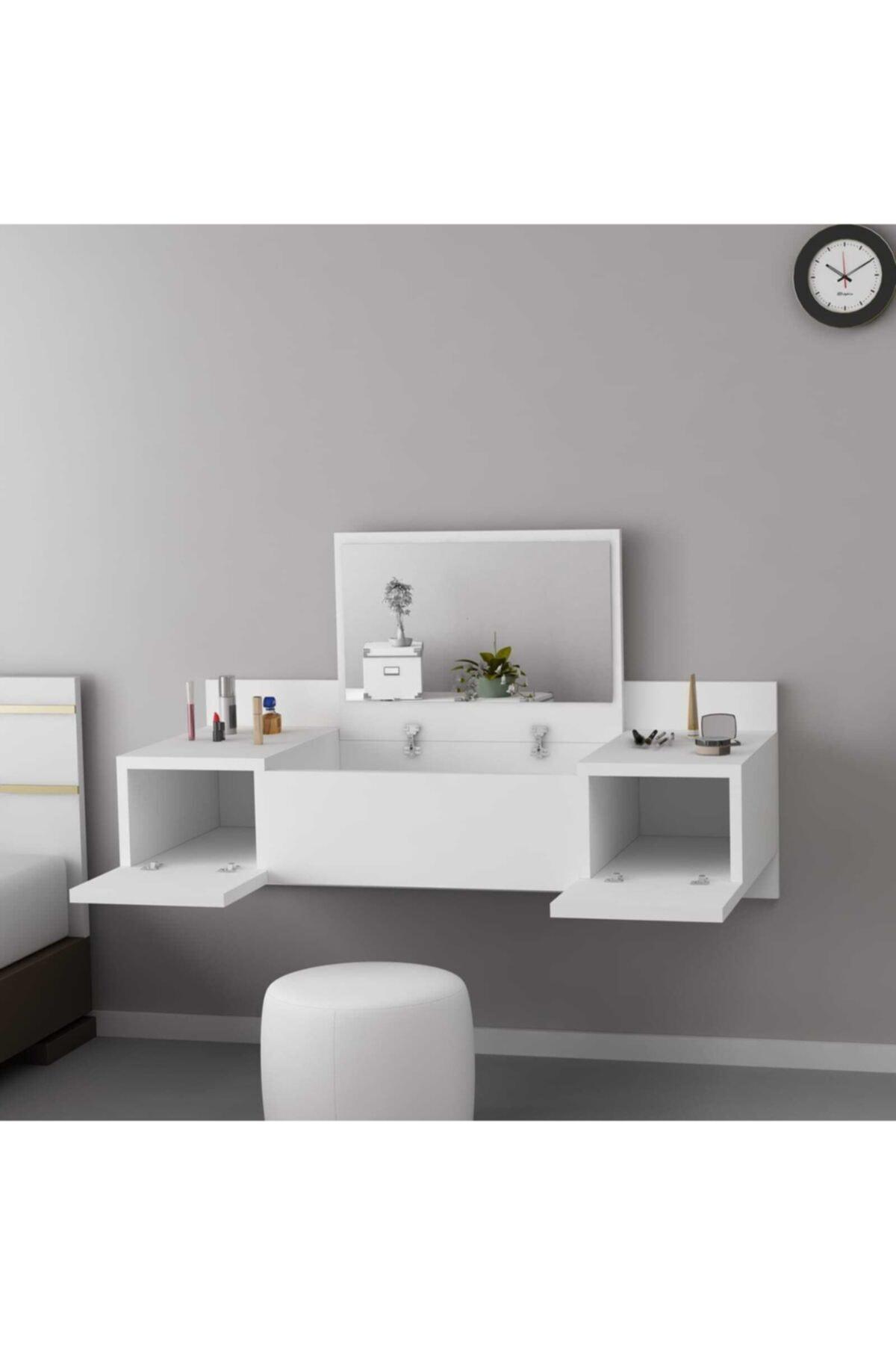 ARNETTİ Zakkum Makyaj Masası Beyaz 1
