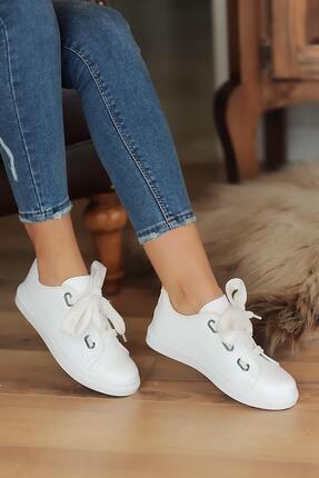 Hediyem Sende Kadın Kalın Bağcıklı Günlük Casual Ayakkabı
