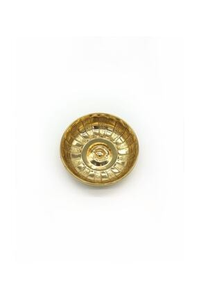 Kashni Altın Sarısı Otantik Osmanlı Motifli Hamam Tası