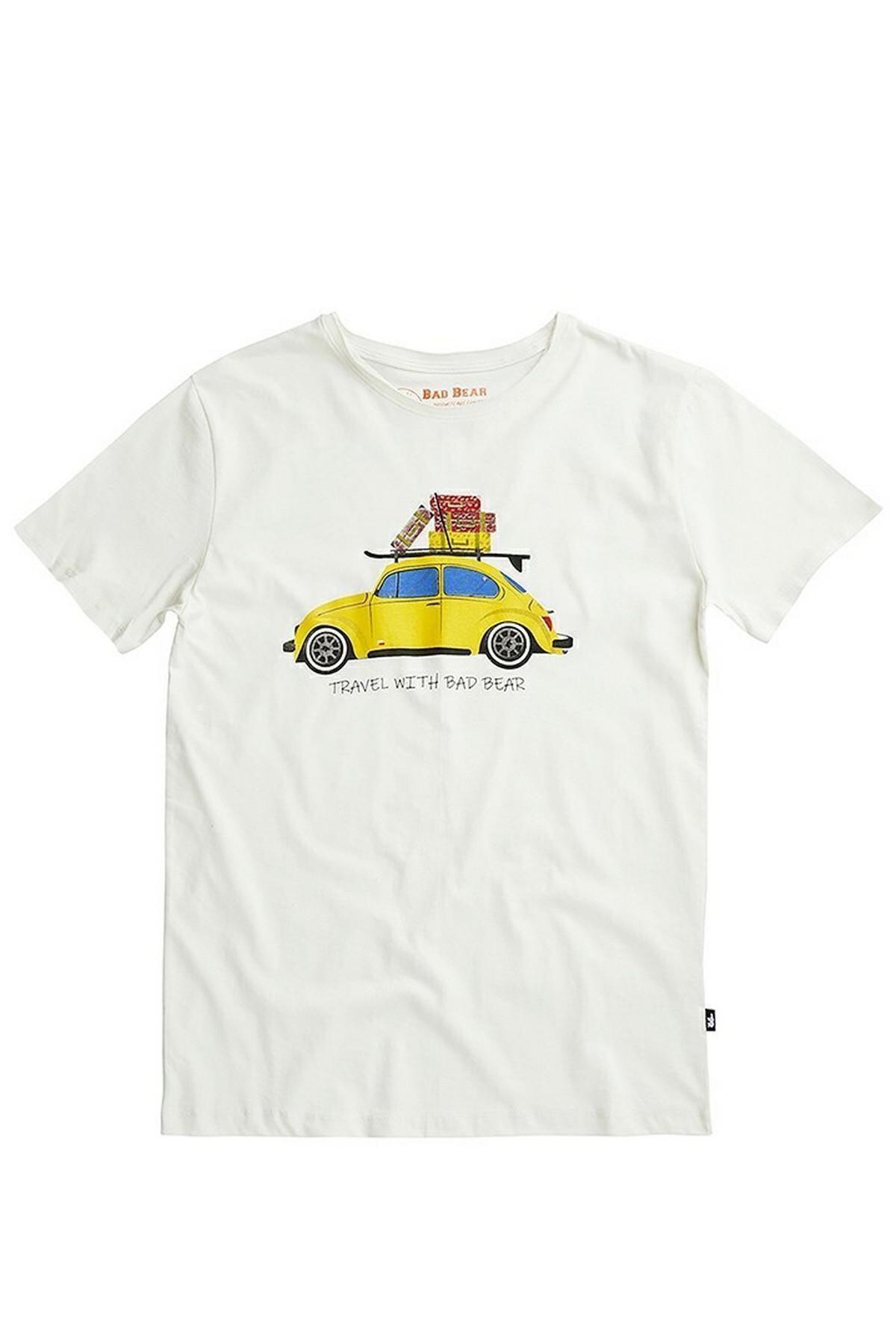 Bad Bear Erkek Beyaz Trave Bear Tee Tişört 2