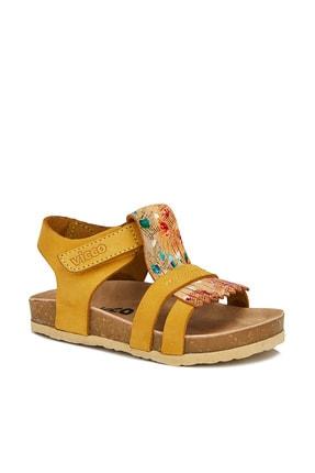 Vicco Dolares Deri Kız Bebe Sarı Sandalet