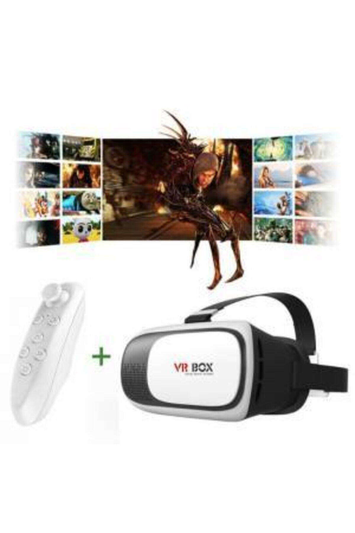 VR BOX Teknomarketim Vr Kumandalı Sanal Gerçeklik Gözlük Yeni Nesil 1