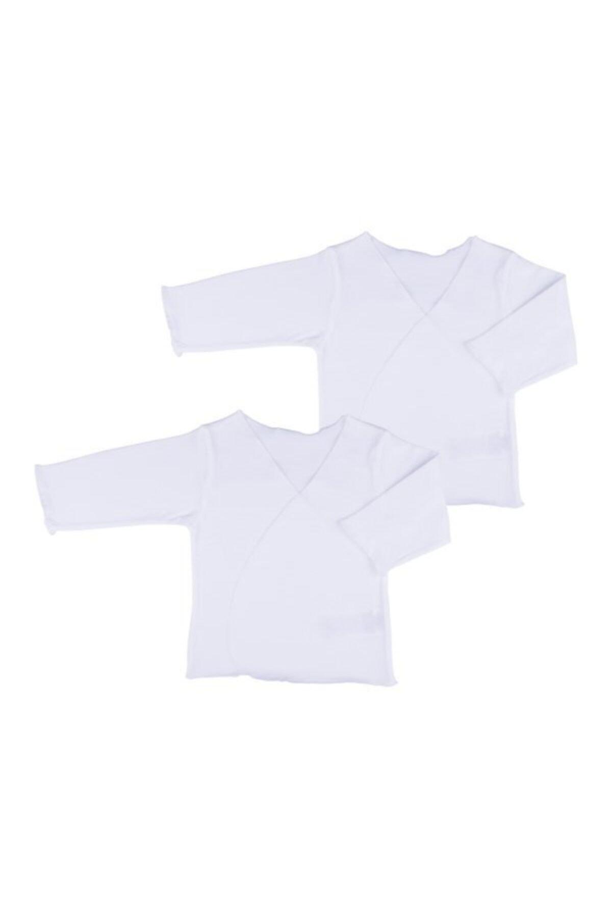 kitikate Unisex Bebek Beyaz 2 li Body Zıbın 1
