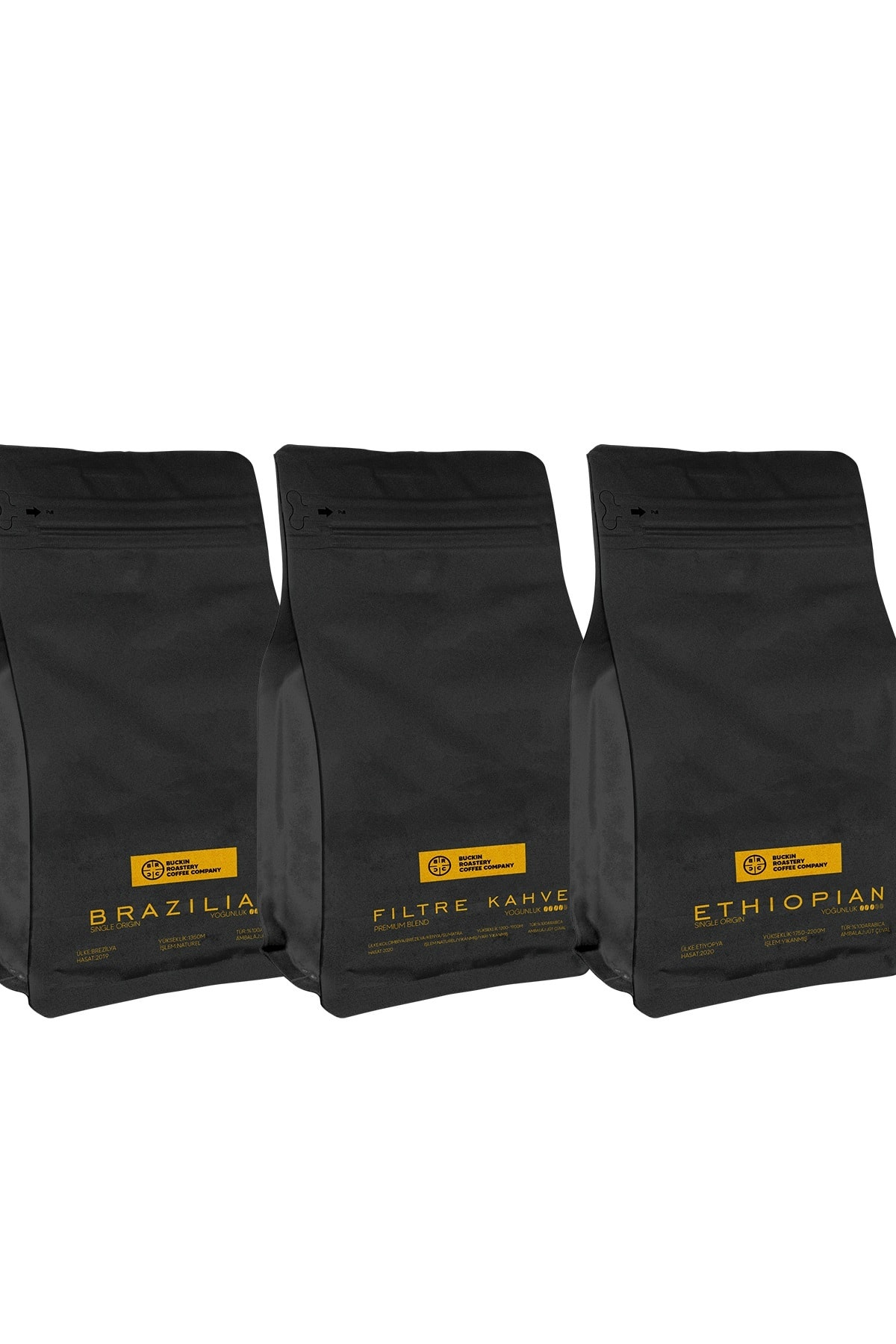 Buckin 3x200 gr Filtre Kahve Paketi Filtre Kahve Makinesi Ve French Press Uyumlu Tanışma Paketi 1