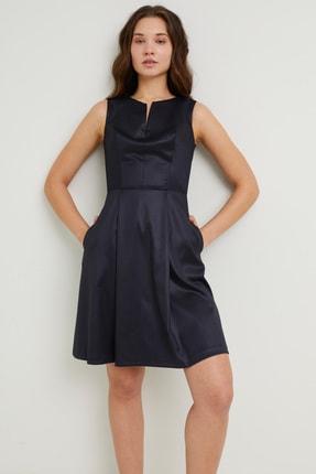 adL Kadın Lacivert Kolsuz Elbise