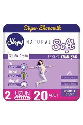 Sleepy Natural Soft Ekstra Yumuşak Uzun 20 Ped