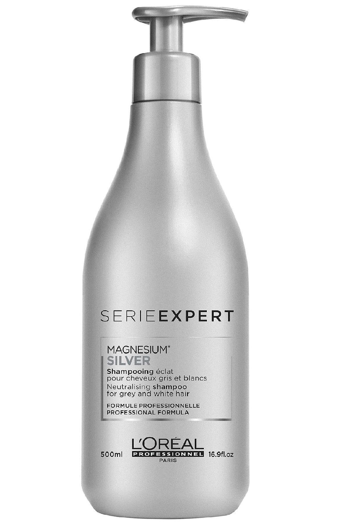 L'oreal Professionnel Gri ve Beyaz Saçlar için Parlaklık Veren Şampuan 500 ml - Silver Gloss Protect System 3474636502868 2