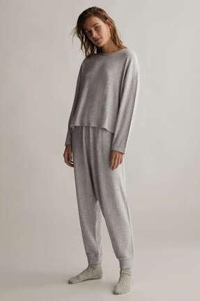 Oysho Kadın Gri Comfort Feel Harem Pantolon