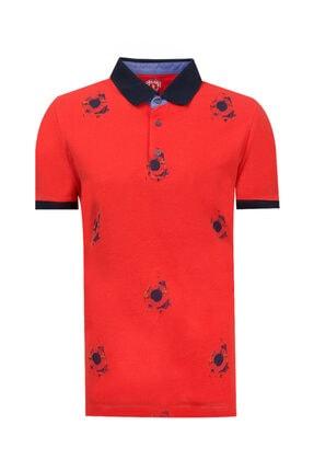 D'S Damat Slim Fit Kırmızı Baskılı T-shirt