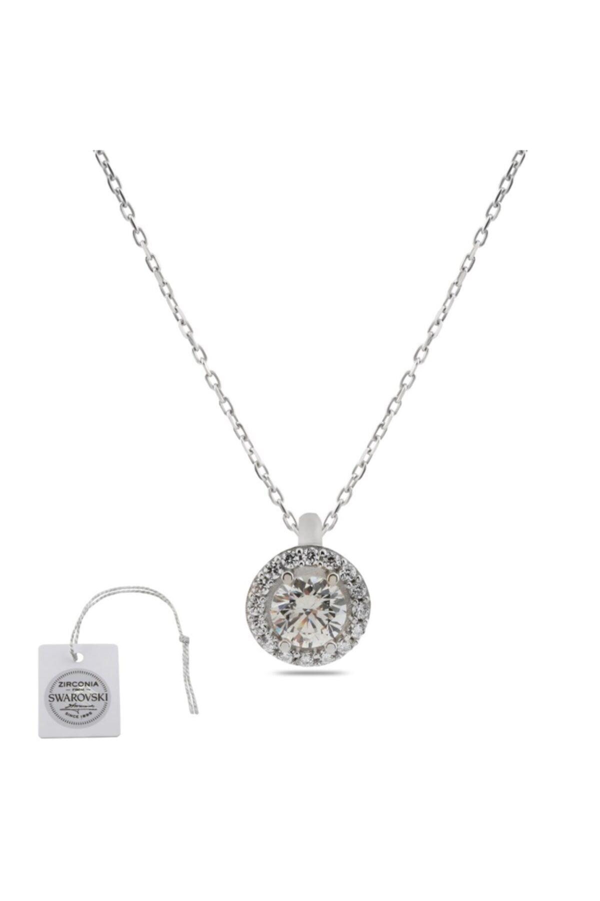 Swarovski Türker Jewelry Swr0019 Zirkonia Taşlı Bayan Kolye 1