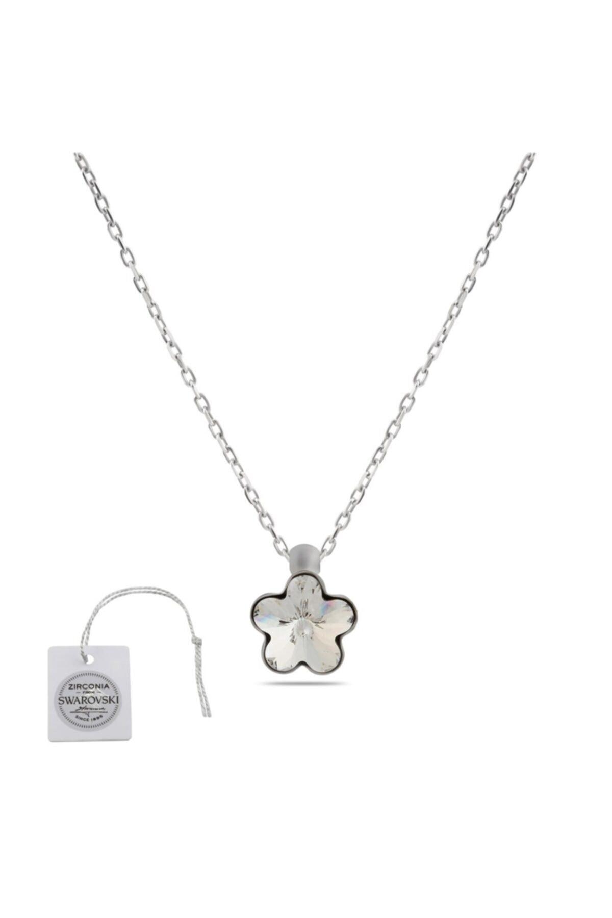 Swarovski Türker Jewelry Swr0029 Zirkonia Taşlı Bayan Kolye 1