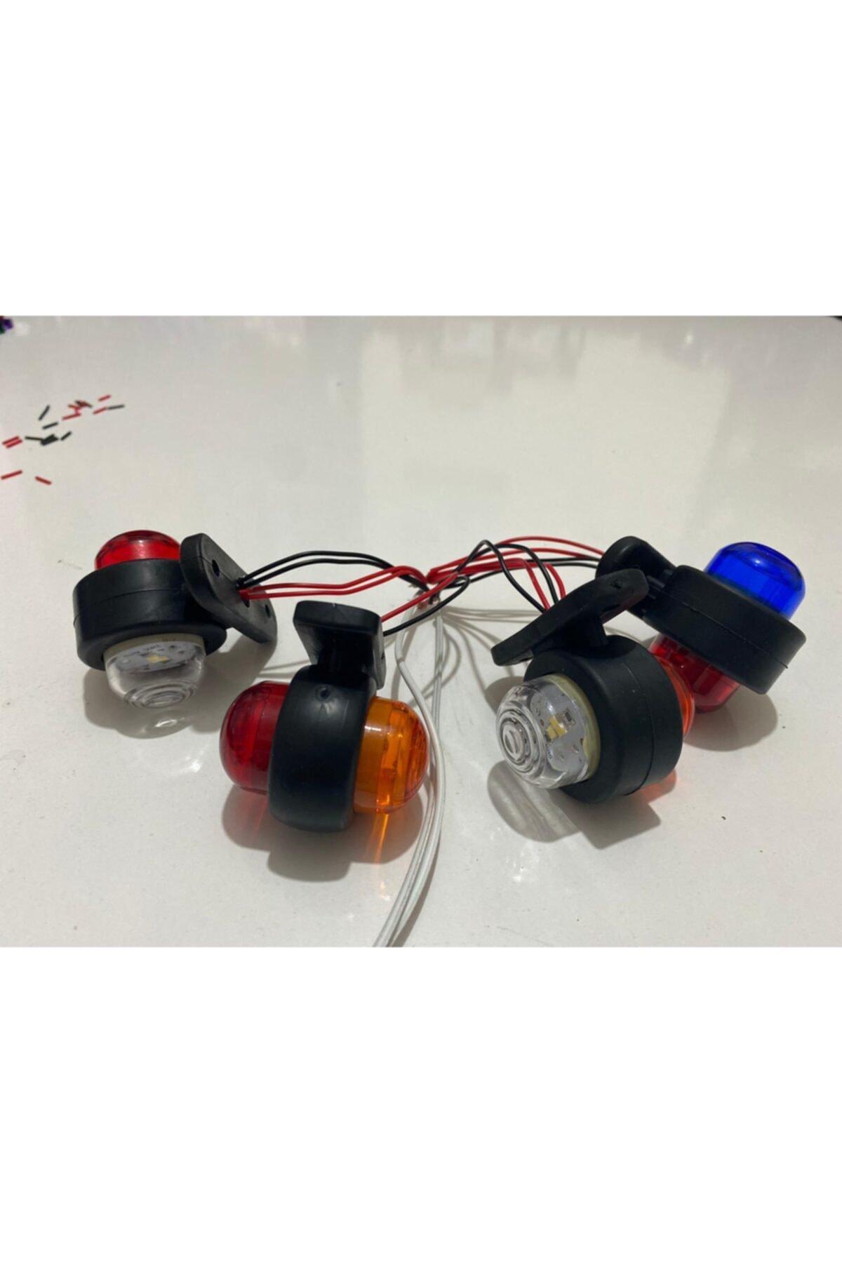 FTE Mini 12/24 Volt Uyumlu Çift Renkli Şiddetli Işıklı Takoz Led 2