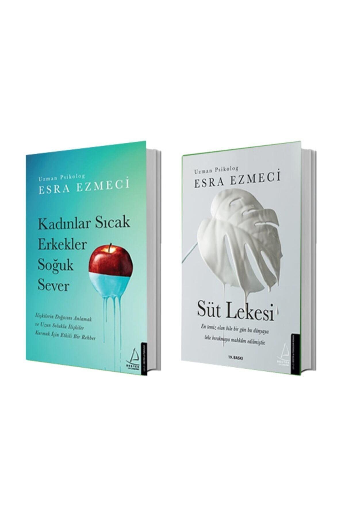 Destek Yayınları Kadınlar Sıcak Erkekler Soğuk Sever + Süt Lekesi - Esra Ezmeci 2 Kitap Set 1
