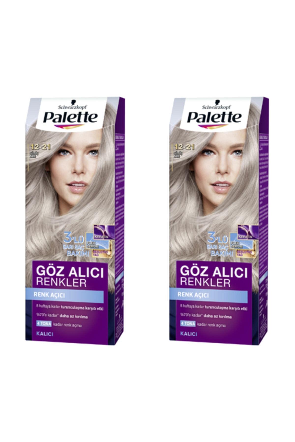 SCHWARZKOPF HAIR MASCARA Palette Goz Alıcı Renkler 12-21 Gümüş Sarı X 2 Adet 1