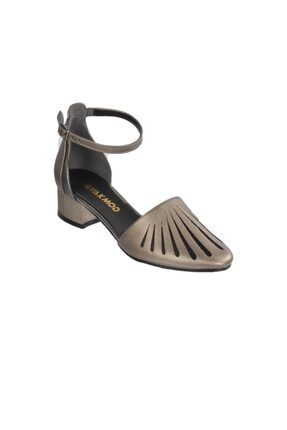 Maje 6033 Platin Kadın Topuklu Ayakkabı