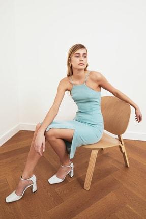 TRENDYOLMİLLA Mint Askılı Elbise TWOSS19BB0501