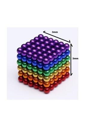 Kids Renkli Manyetik Mıknatıs Toplar 3mm 216 Adet