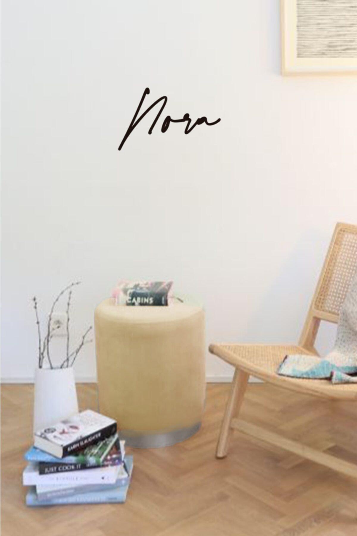 Zem Nora Silinebilir Puf - Cream Silver 1