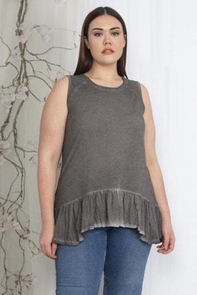 Şans Kadın Füme Etek Ucu Detaylı Bluz 65N22334