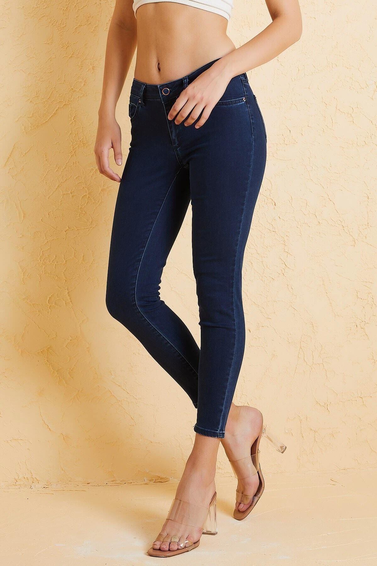 Twister Jeans Kadın  Mavi Çok Yüksek Bel Pantolon Eva 9028-88 2