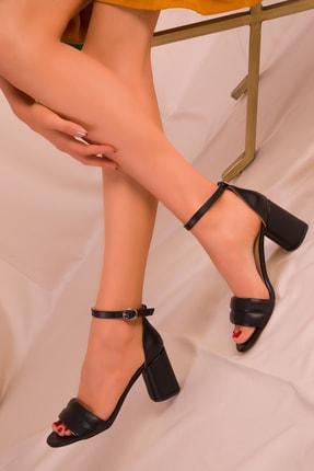 SOHO Siyah Kadın Klasik Topuklu Ayakkabı 15808