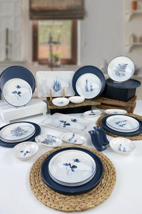 Keramika Blue Magic 24 Parça 6 Kişilik Stackable Kahvaltı Takımı