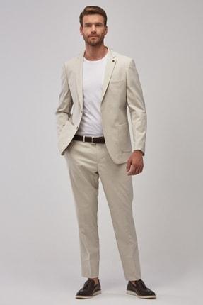 ALTINYILDIZ CLASSICS Erkek Taş Slim Fit Dar Kesim Desenli Su Geçirmez Nano Takım Elbise