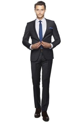 ALTINYILDIZ CLASSICS ERKEK Antrasit Ekstra Slim Fit Desenli Takım Elbise