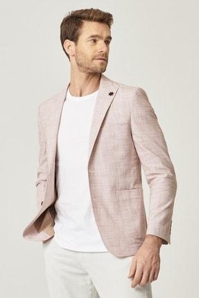 ALTINYILDIZ CLASSICS Erkek Kiremit Slim Fit Desenli Ceket