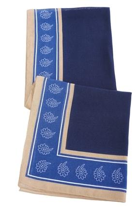 ALTINYILDIZ CLASSICS Erkek Lacivert-Mavi Desenli Atkı