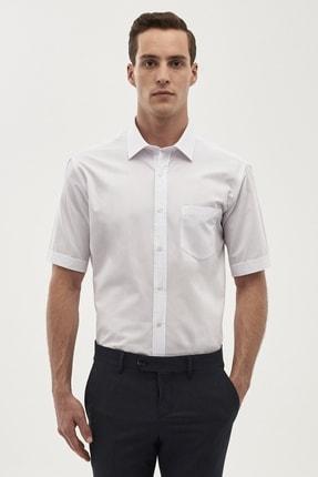 ALTINYILDIZ CLASSICS Erkek Beyaz Regular Fit Kısa Kollu Gömlek
