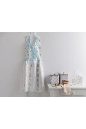 English Home Rosalinda Polyester Fırfırlı Mutfak Önlüğü 80x85 Cm Beyaz - Mavi