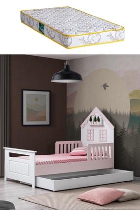 Setay Montessori Yatak, Casa Montessori Karyola Yavru Yataklı, Pembe + 1 Adet Comfort Yatak
