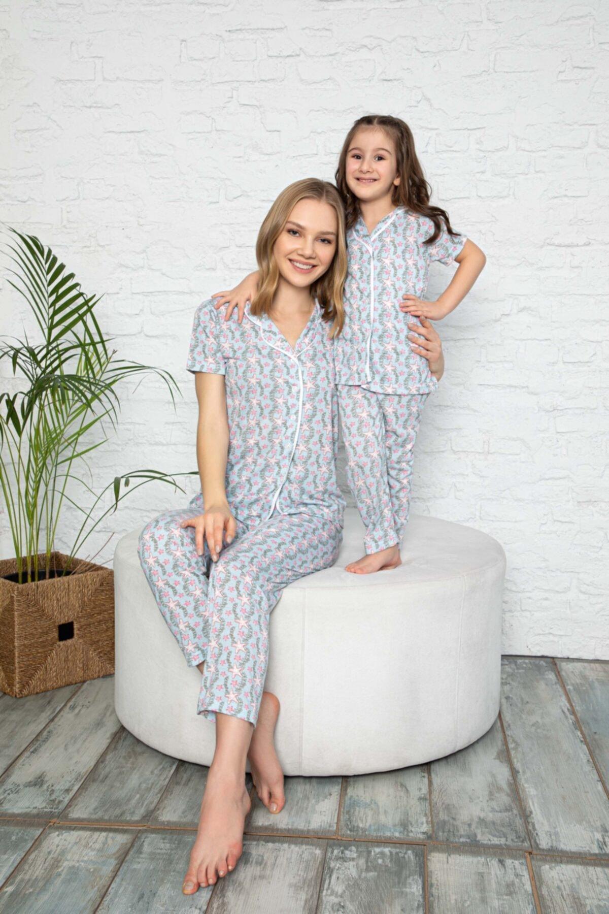modalizy Anne Kız Yıldız Desen Pijama Kombinleri (Tek tek sepete eklemeniz gerekmektedir) 1