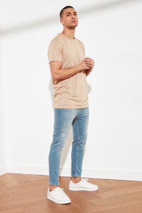 TRENDYOL MAN Açık Mavi Erkek Skinny Cropped Jeans TMNSS21JE0054