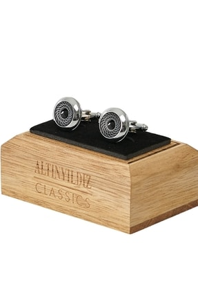 ALTINYILDIZ CLASSICS Erkek Siyah Siyah Kol Düğmesi